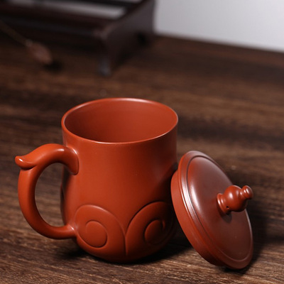 Yixing Handmade Clay Teacup Good luck Cup Big Red Bobe Mud