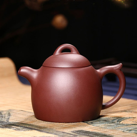Yixing Handmade Purple Clay Teapot Purple Mud Kung Fu Small Suit Qin Han