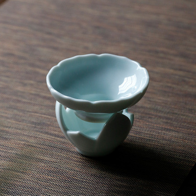 Jingdezhen Light-Blue Porcelain Tea Strainers Tea Maker Filter Tea Ceremony Accessories