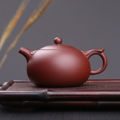 Yixing Handmade Xishi Purple Clay Teapot Kung Fu Tea Wishful Purple Mud