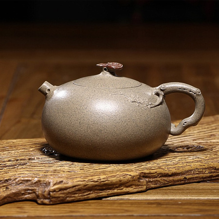 Yixing Handmade Purple Clay Teapot Set Ganoderma Golden Mud