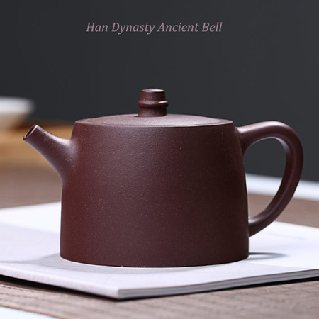 Yixing Handmade Purple Clay Teapot Kung Fu Han Dynasty Ancient Bell