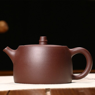 Handmade Purple Clay Teapot Kung Fu Han Ancient Bell Famous Artist