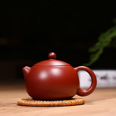 Yixing Handmade Purple Clay Teapot Kung Fu Tea Whole Set Deep Red Xishi Pot