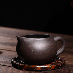 Handmade Clay Teacup Tea separator Tea Sea Black Galaxy Fair Cup