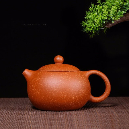 Handmade Xishi Purple Clay Teapot Dragon Blood Color Suit