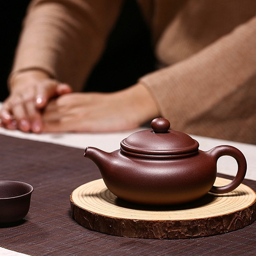 Yixing Handmade Antique Pot Millennium Heritage Jujube Red Mud