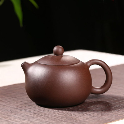 Yixing Handmade Xishi Purple Clay Teapot Kung Fu Purple Mud High Capacity Tea Set