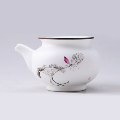 Jingdezhen Green Ware Fair Cup Hand Painted Lotus Orchid Bamboo Pomegranate