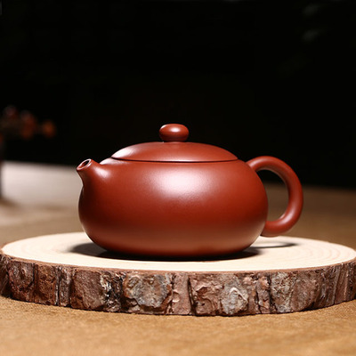 Yixing Handmade Purple Clay Teapot Flat Type Kung Fu Tea Set Youthful Years