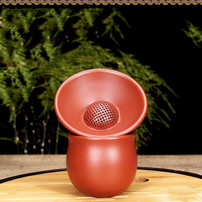 Yixing Handmade Filter Tea Cup Tea Ceremony Accessories Big Red Bobe Mud