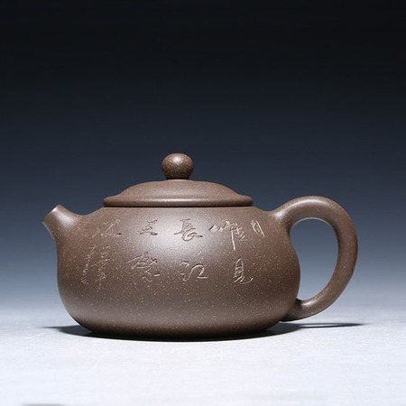 Handmade Long Stream Xishi Purple Clay Teapot Suit Ball Hole Golden Mud